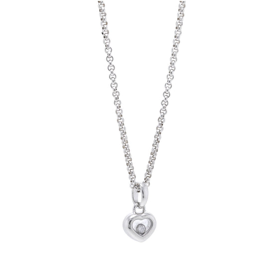 Chopard 18k White Gold Happy Diamonds Icons Pendant Necklace Necklaces Chopard