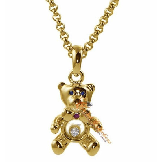 Chopard Floating Diamond Teddy Bear Pendant Necklaces Chopard