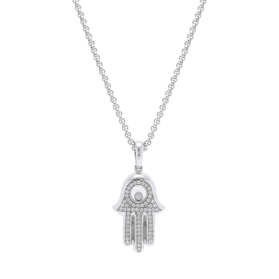 Chopard Happy Diamond Hand of Fatima Pendant Necklace Necklaces Chopard
