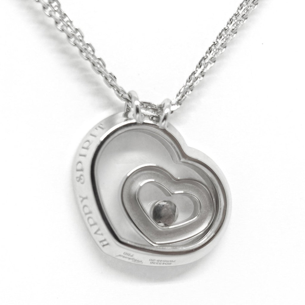 Chopard Happy Spirit Floating Diamond Heart Pendant Necklace Necklaces Chopard