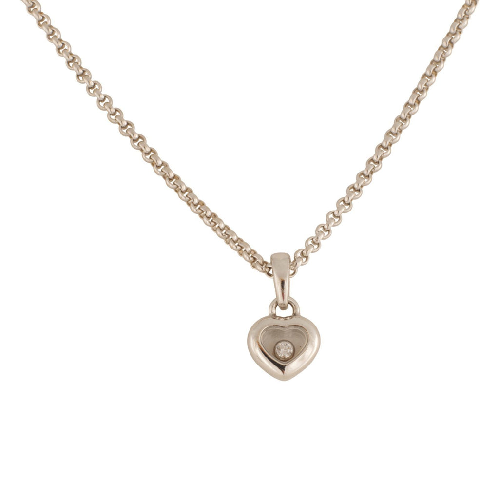 Chopard Miss Happy Heart Shaped Diamond Pendant Necklaces Chopard