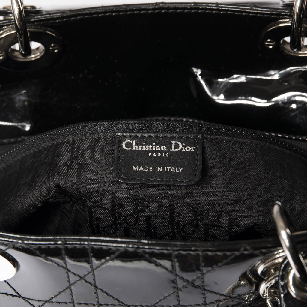 Christian Dior Patent Large Lady Dior Bag Bags Dior
