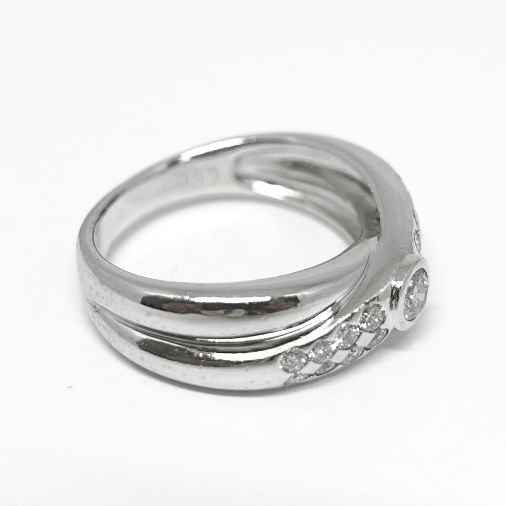 Crossover Diamond Ring - Rings