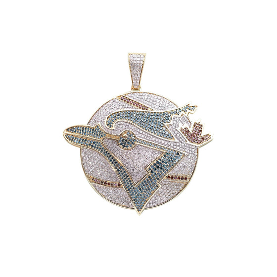 Custom Made Diamond Blue Jays Pendant Charms & Pendants Miscellaneous
