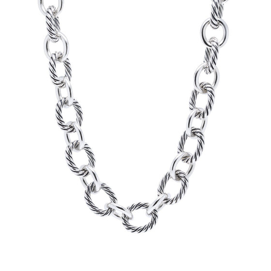 David Yurman 12 mm Oval Link Necklace Necklaces David Yurman