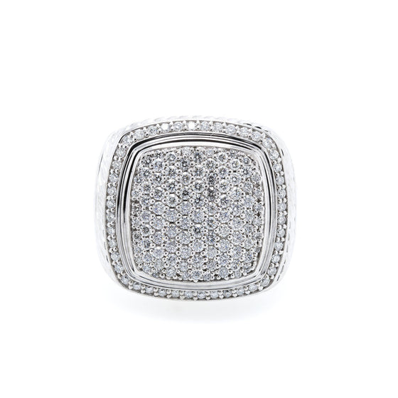 David Yurman 18k White Gold Pave Diamond Albion Ring Rings David Yurman