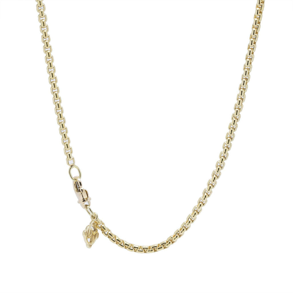 David Yurman 18k Yellow Gold Small Box Chain Necklace Necklaces David Yurman