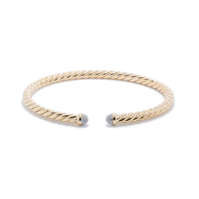 David Yurman 4 mm Cable Spira Bracelet with Diamonds Bracelets David Yurman