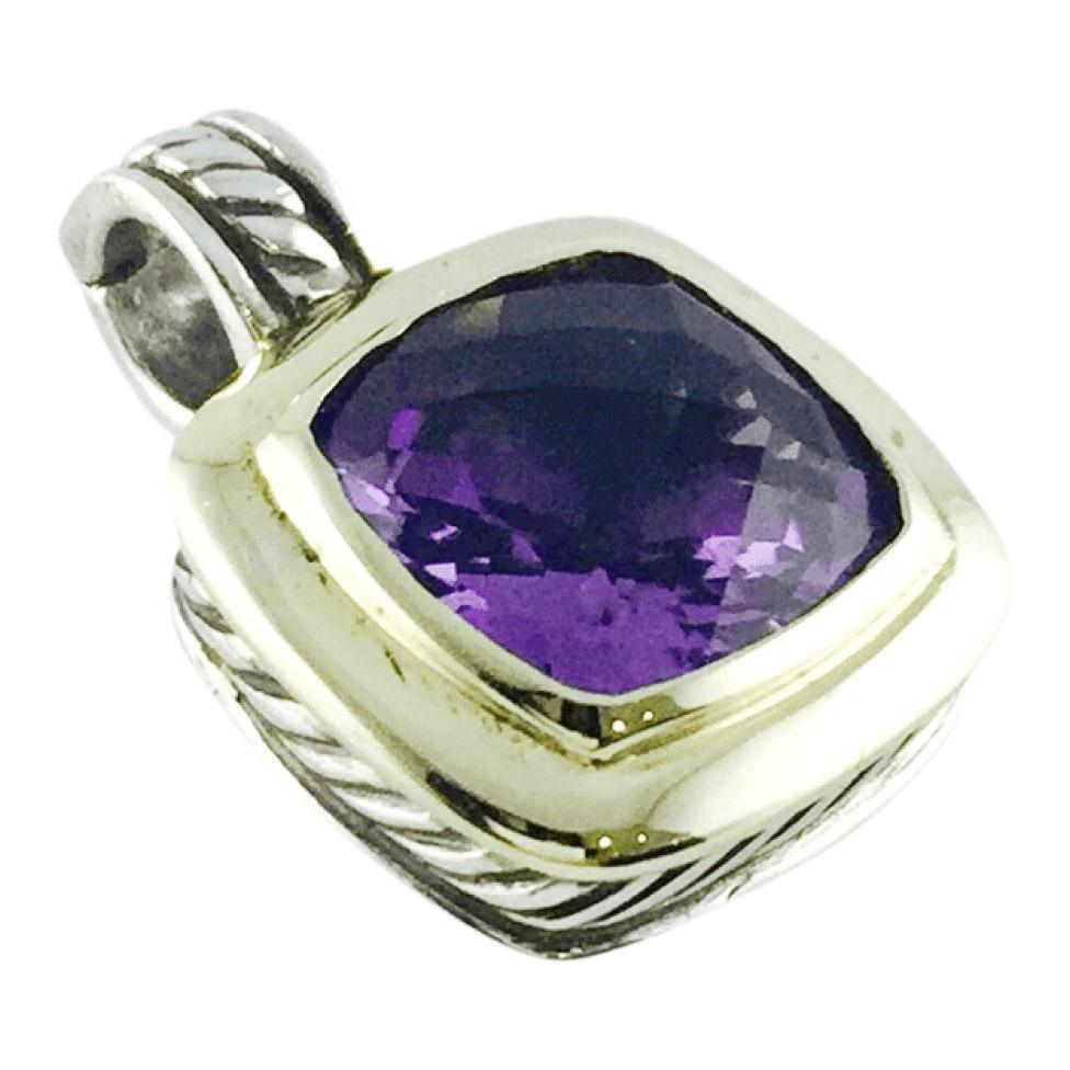 David Yurman Albion Amethyst Pendant Charms & Pendants David Yurman