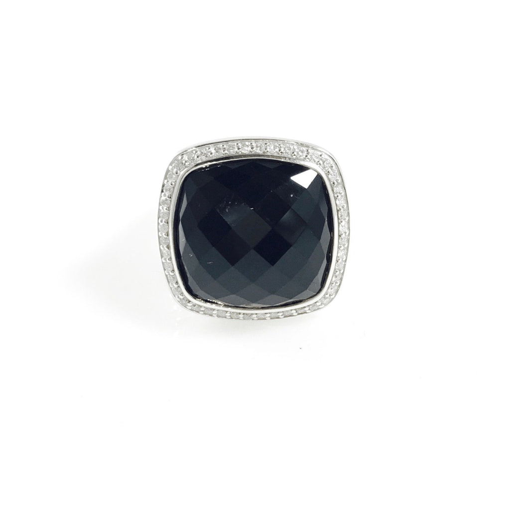 David Yurman Albion Ring With Black Onyx And Diamonds - Rings