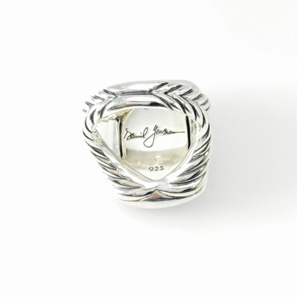 David Yurman Albion Ring with Black Onyx and Diamonds Rings David Yurman