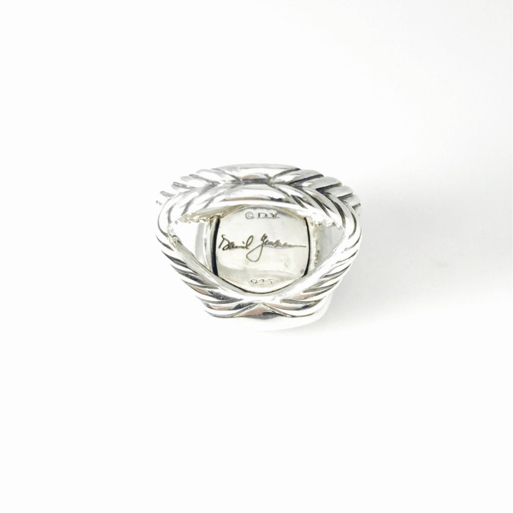 David Yurman Albion Ring with Black Orchid and Diamonds Rings David Yurman