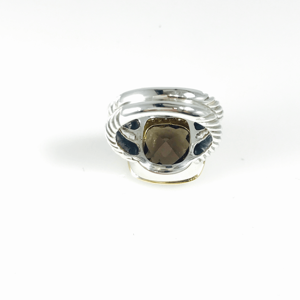 David Yurman Albion Ring with Smoky Topaz and Diamonds Rings David Yurman