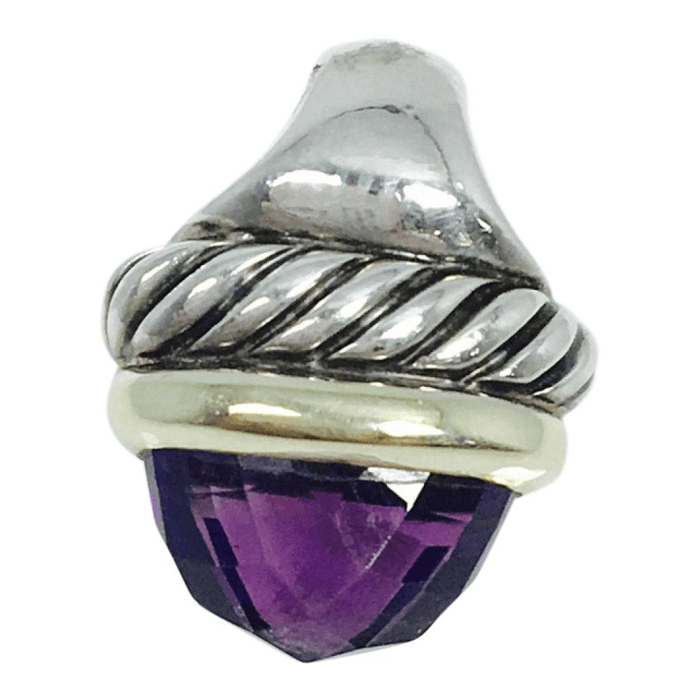 David Yurman Amethyst Acorn Pendant - Charms & Pendants
