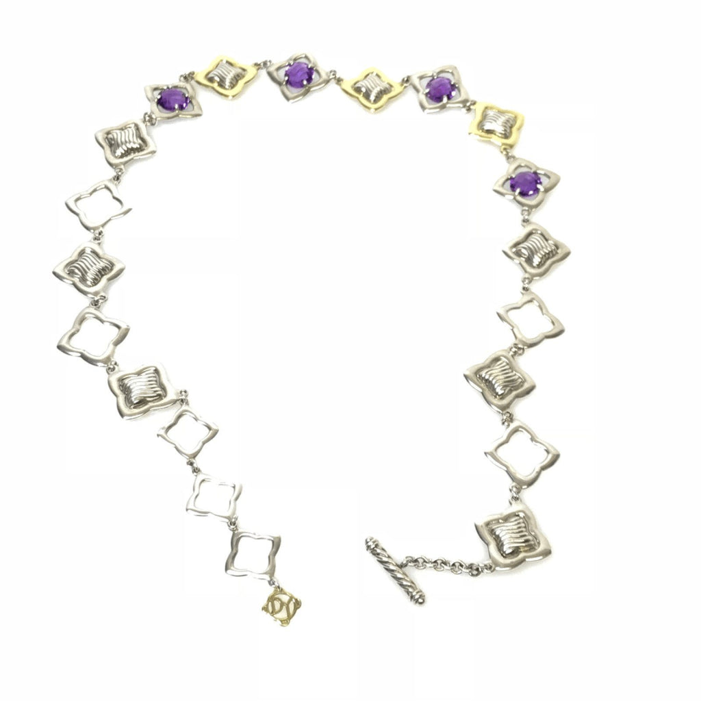 David Yurman Amethyst Quatrefoil Necklace - Necklaces