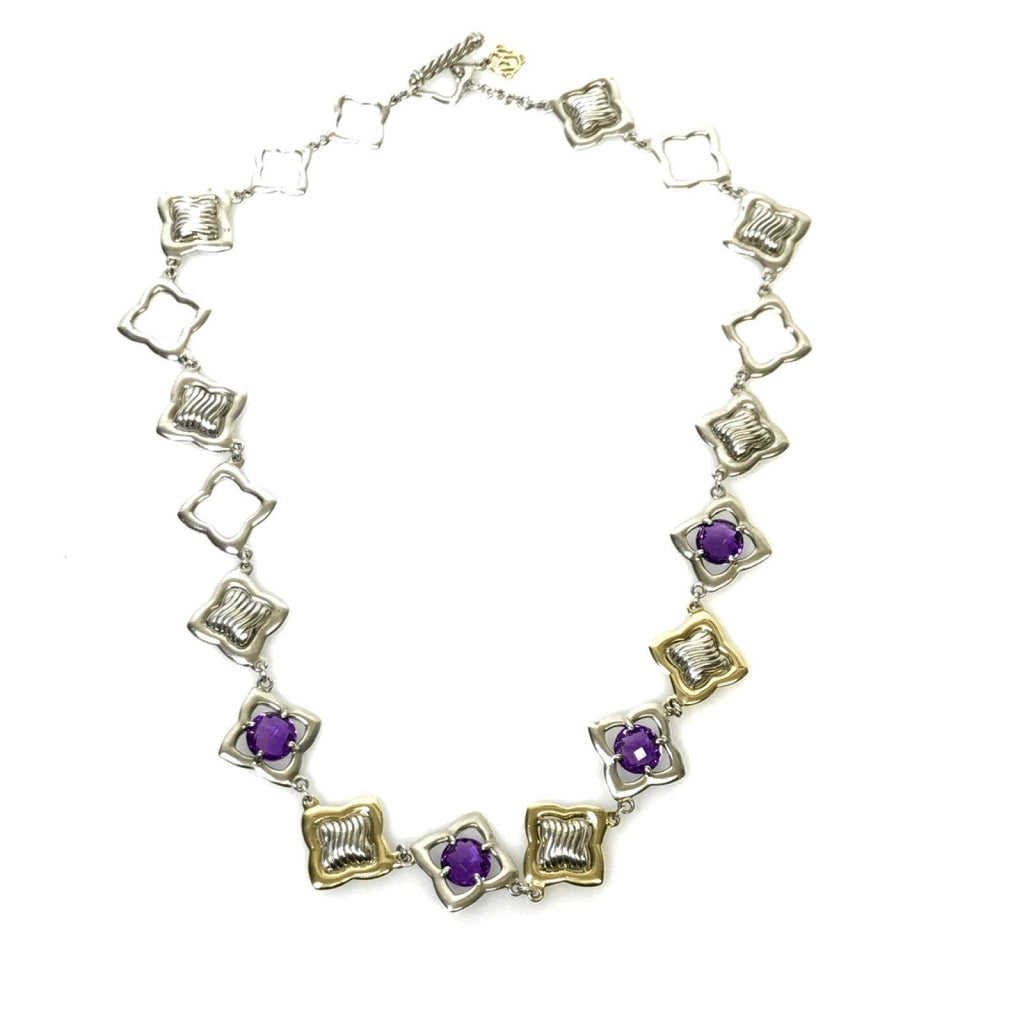 David Yurman Amethyst Quatrefoil Necklace Necklaces David Yurman