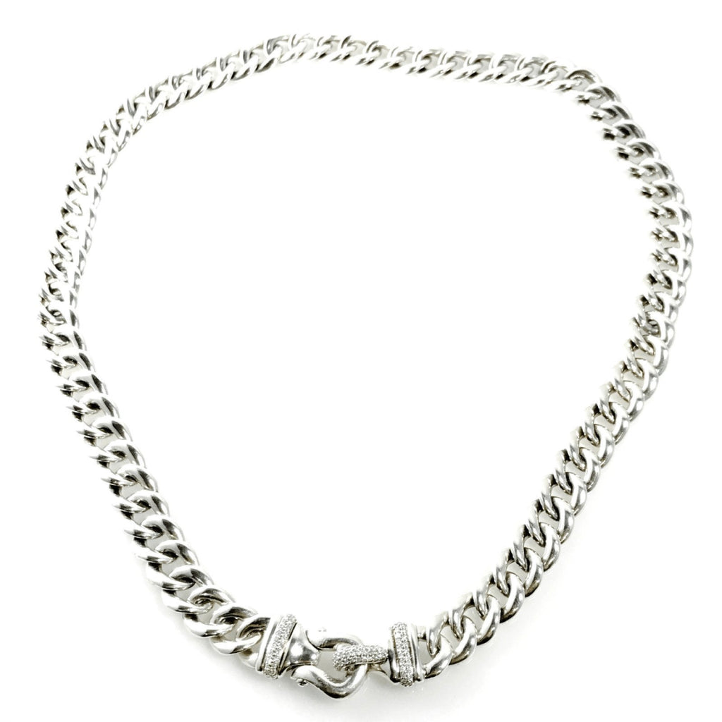 David Yurman Cable Buckle Chain Necklace with Diamonds Necklaces David Yurman