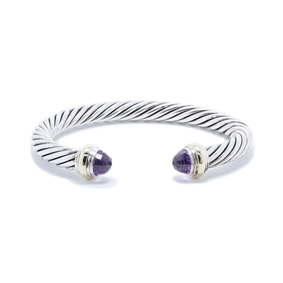 David Yurman Cable Classics Bracelet with Amethyst Bracelets David Yurman
