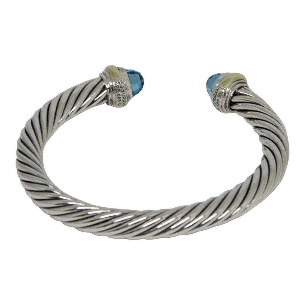 David Yurman Cable Classics Bracelet with Blue Topaz Bracelets David Yurman