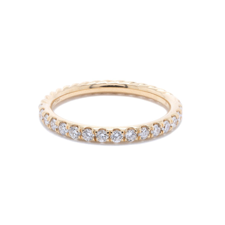 David Yurman Cable Collectibles Ring with Diamonds Rings David Yurman