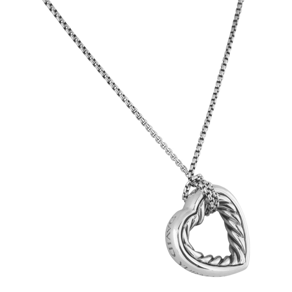 David Yurman Cable Heart Pendant Necklace Necklaces David Yurman