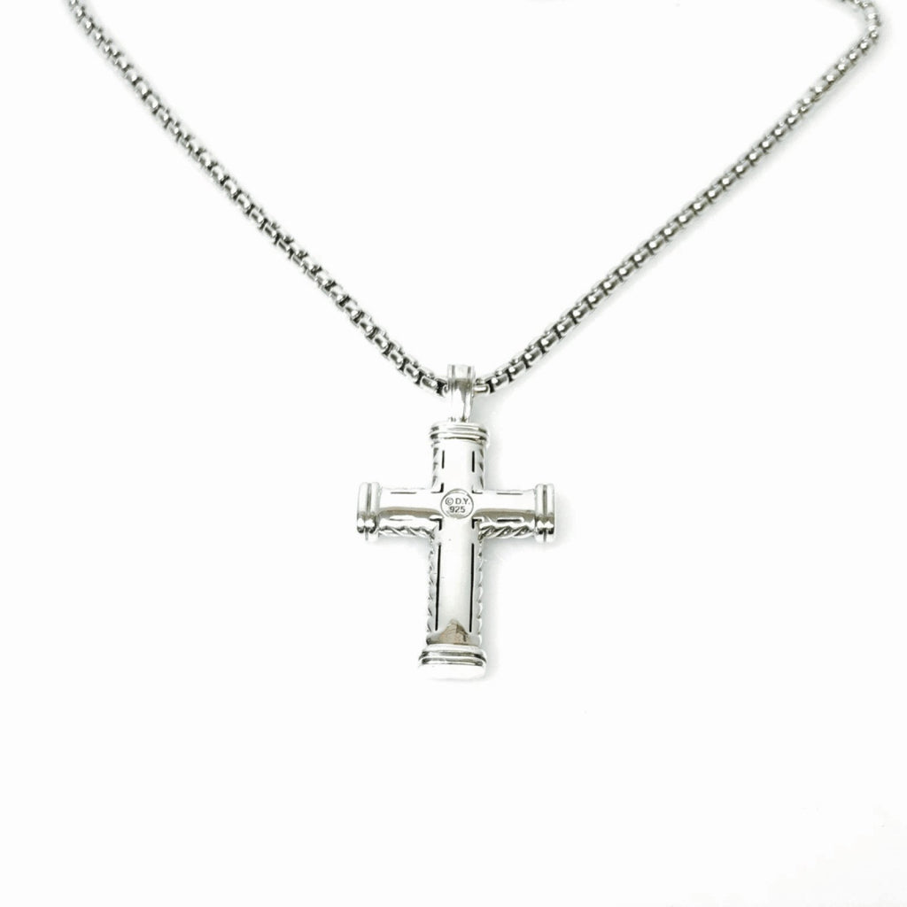 David Yurman Chevron Cross Pendant Necklace Men's Jewellery David Yurman