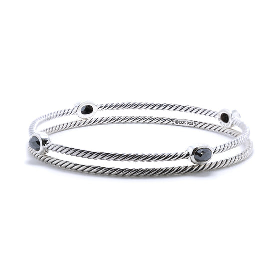 David Yurman Color Classics Bangles with Hematite Bracelets David Yurman