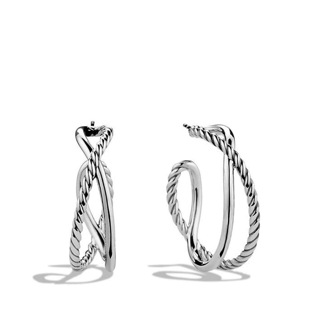 David Yurman Crossover Hoop Earrings - Earrings
