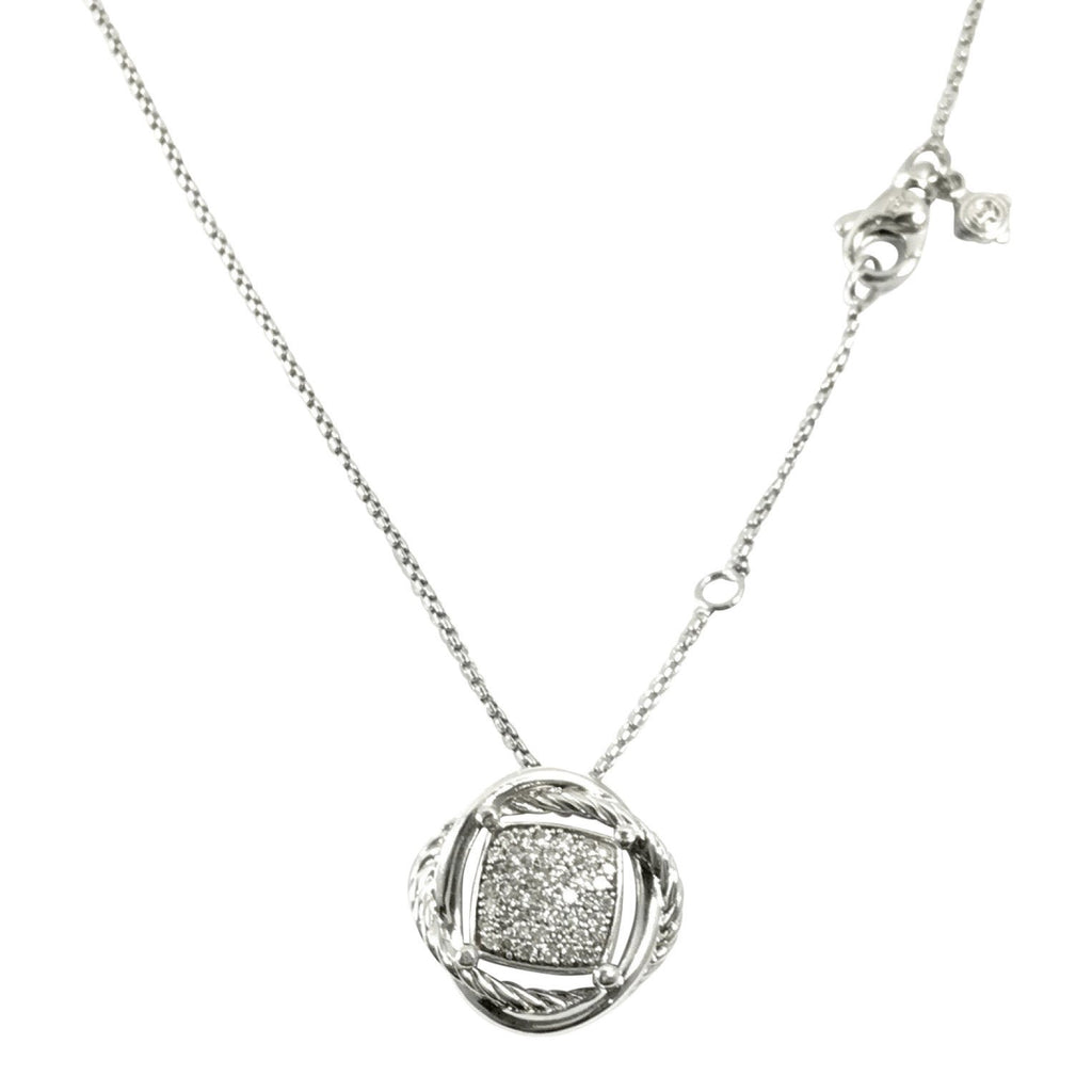David Yurman Crossover Pendant with Diamonds Necklaces David Yurman