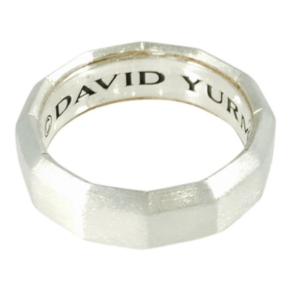 David Yurman Delaunay Faceted Metal Band Ring Men's Jewellery David Yurman