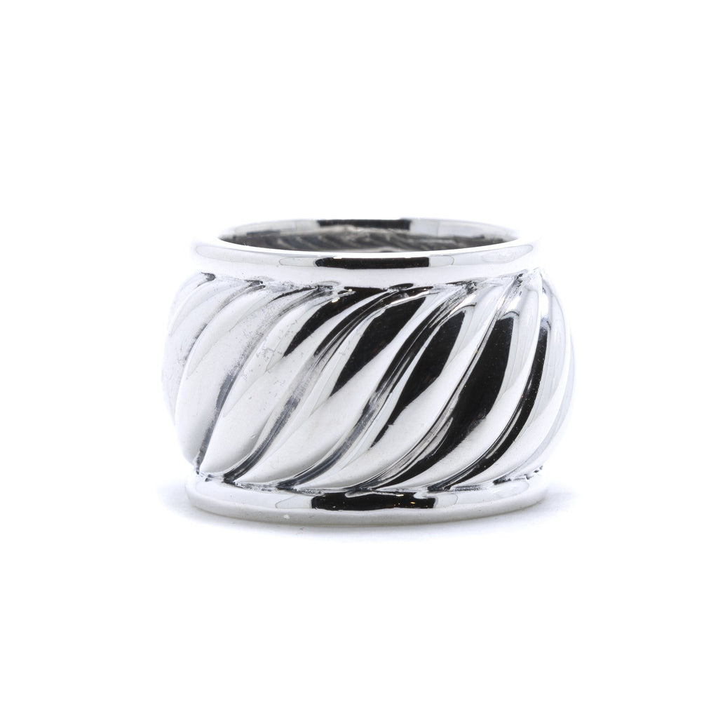 David Yurman Diamond Sculpted Band Ring Rings David Yurman