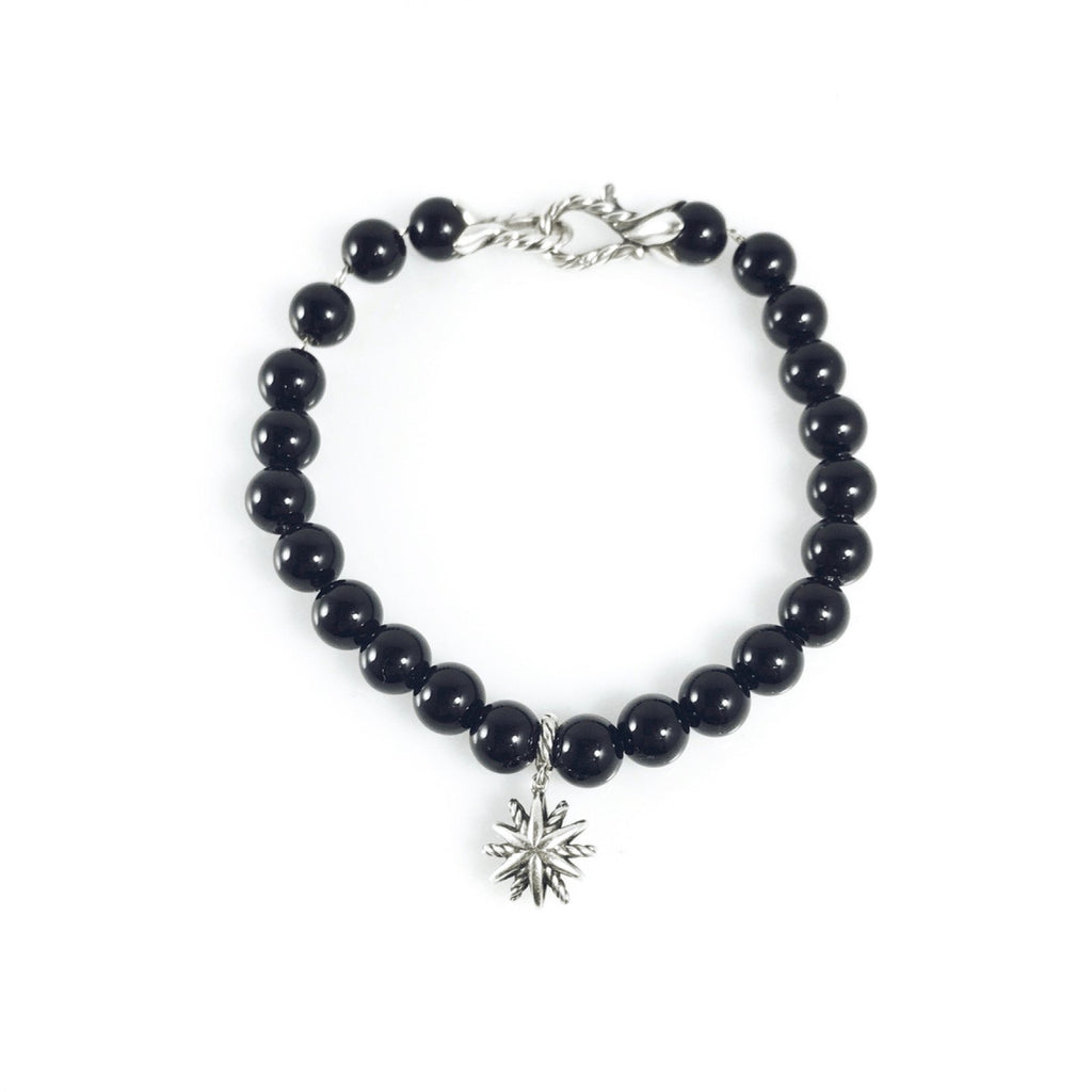 David Yurman Diamond Starburst Black Onyx Bead Bracelet - Bracelets