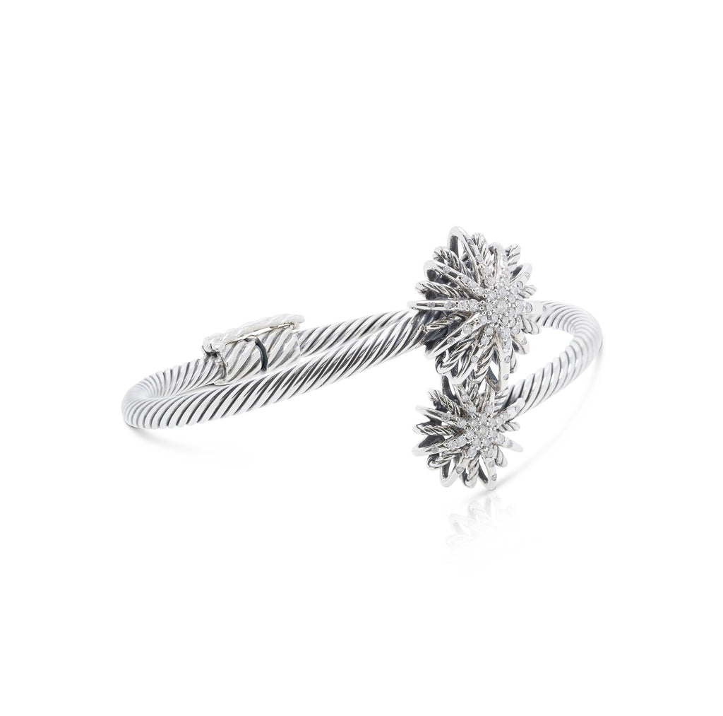 David Yurman Diamond Starburst Open Bracelet Bracelets David Yurman