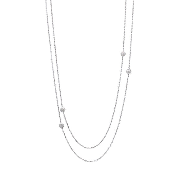 David Yurman Diamond Station Necklace Necklaces David Yurman