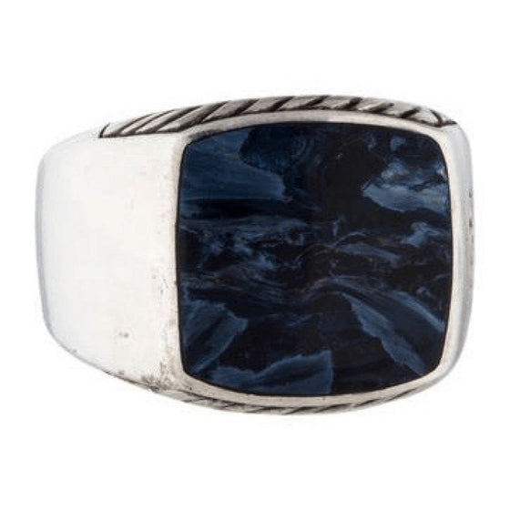 David Yurman Exotic Stone Signet Ring with Petersite Men's Jewellery David Yurman