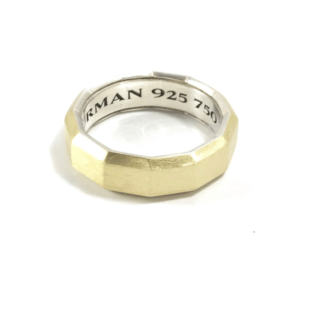 David Yurman Faceted Metal Band Ring Men's Jewellery David Yurman