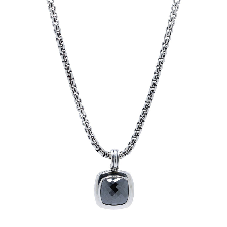 David Yurman Hematite Albion Pendant Necklace Necklaces David Yurman