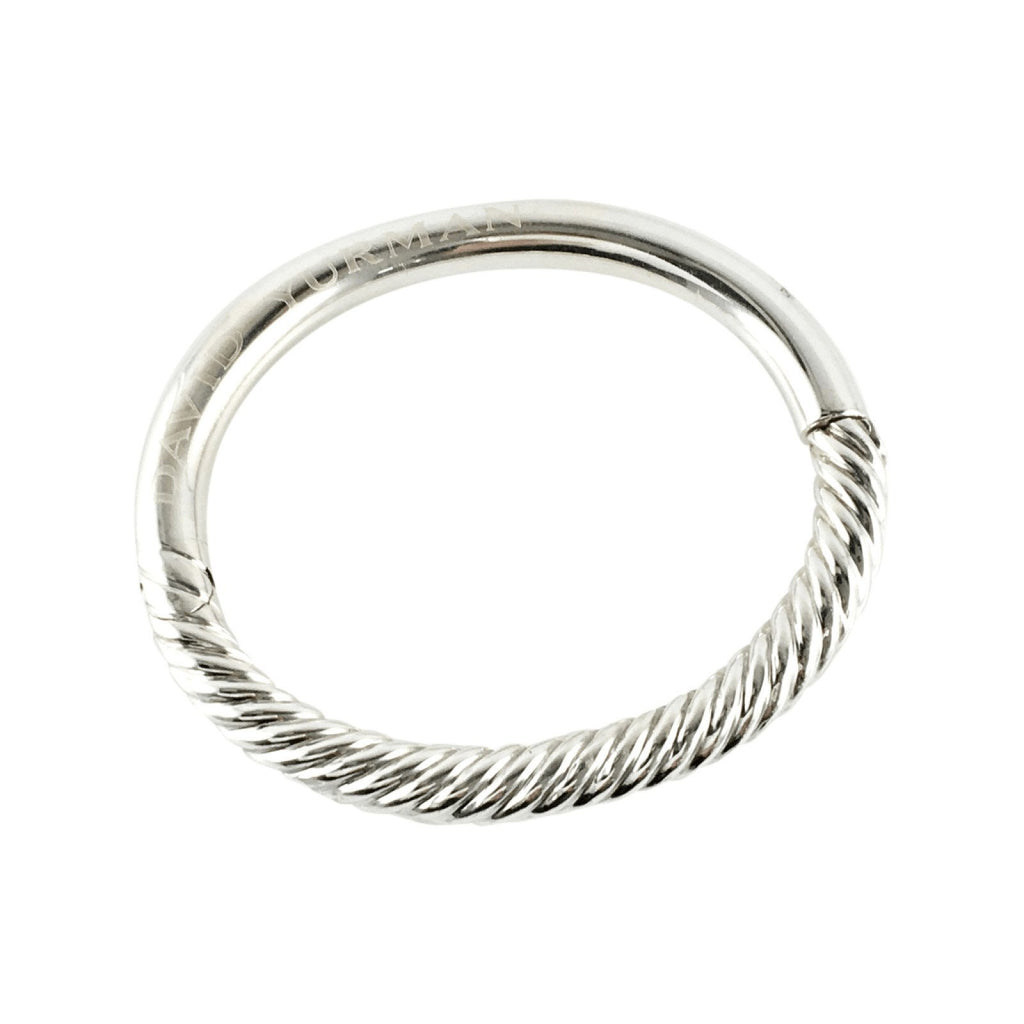 David Yurman Hinged Cable Bracelet In Sterling Silver - Bracelets