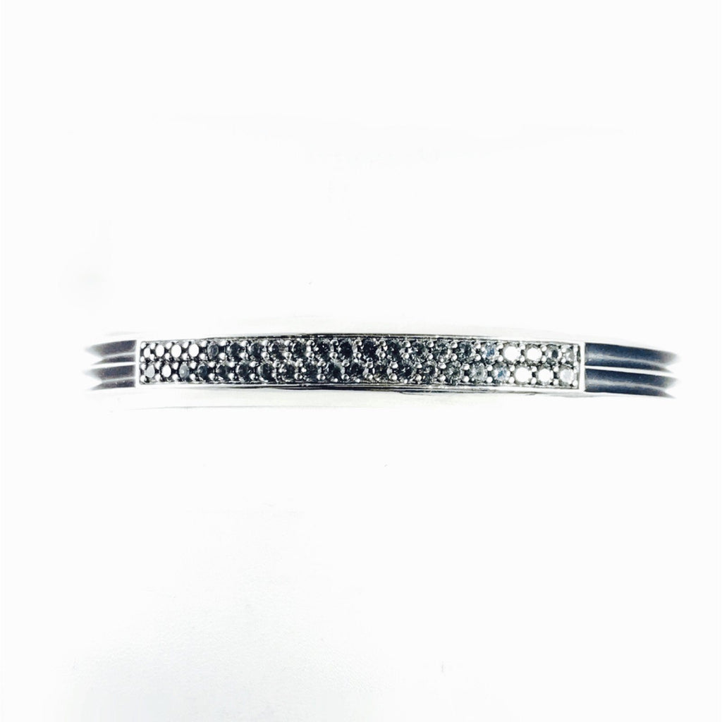 David Yurman Knife Edge Cuff With Grey Sapphires - Mens Jewellery