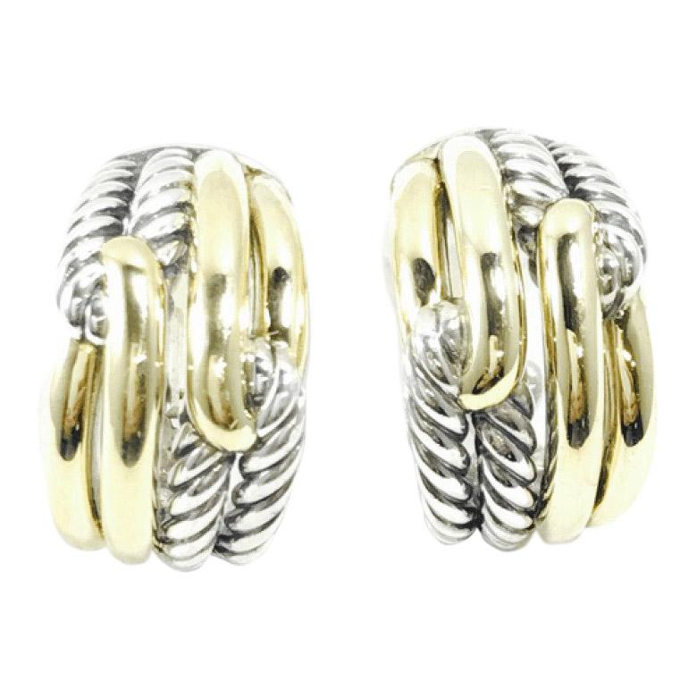 David Yurman Labyrinth Double-Loop Earrings - Earrings