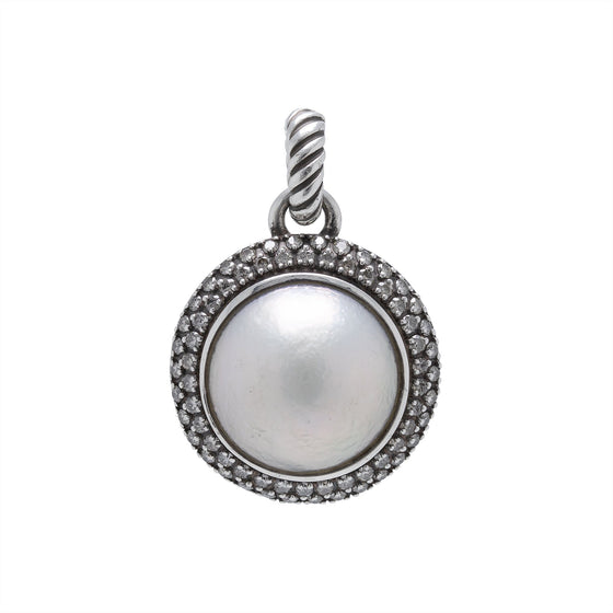 David Yurman Mabe Pearl & Diamond Cerise Enhancer Pendant Charms & Pendants David Yurman