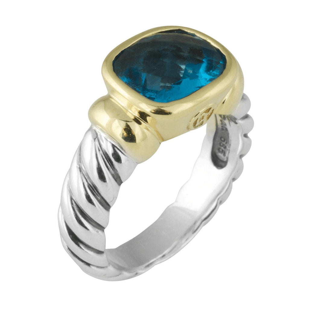 David Yurman Noblesse Blue Topaz Ring Rings David Yurman