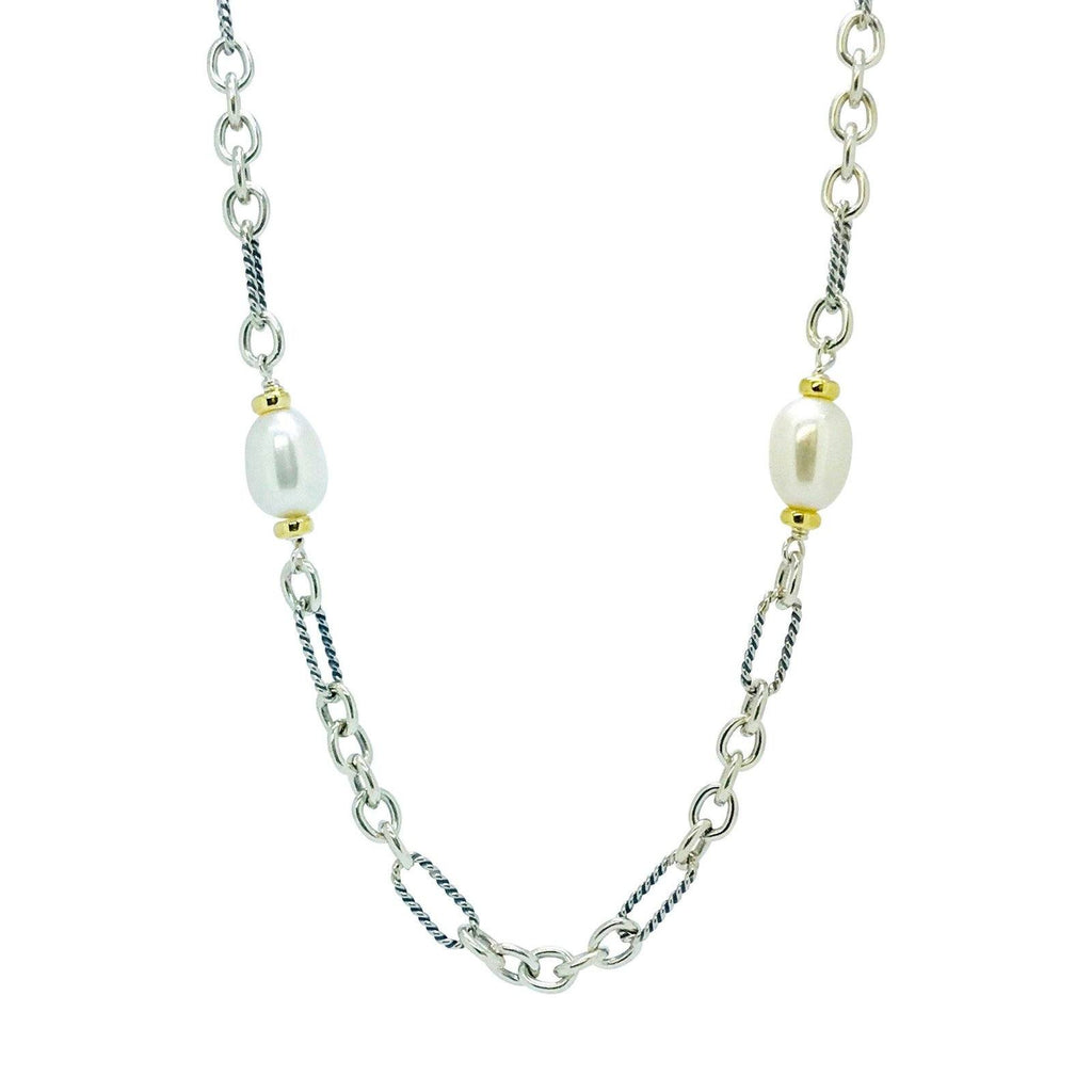 David Yurman Pearl Station Figaro Chain Necklace - Necklaces