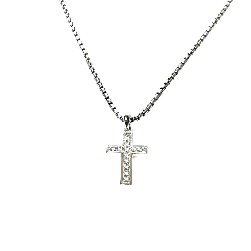 David Yurman Petite Diamond Cross Pendant Necklace - Necklaces
