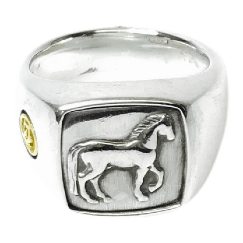 David Yurman Petrvs Horse Signet Ring Men's Jewellery David Yurman
