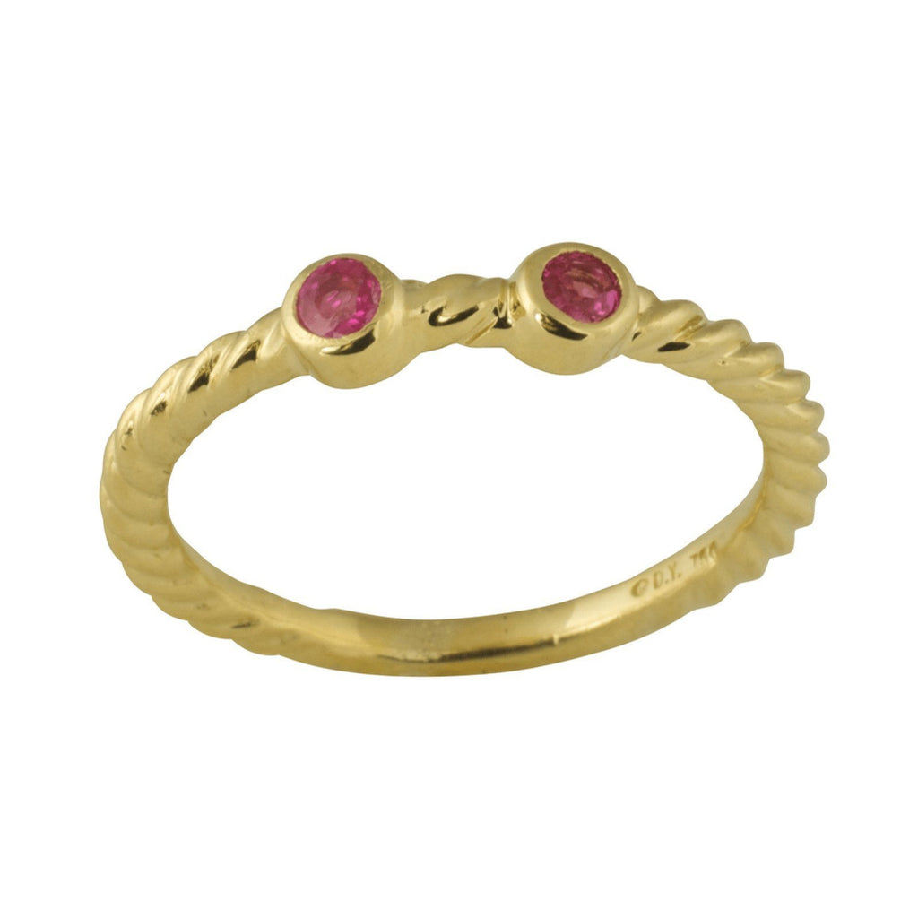David Yurman Pink Tourmaline Ring Rings David Yurman