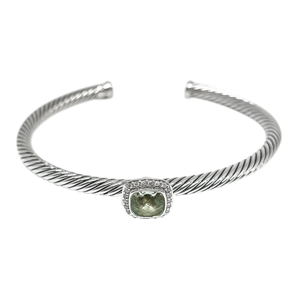 David Yurman Prasiolite And Diamond Noblesse Cuff Bracelet - Bracelets
