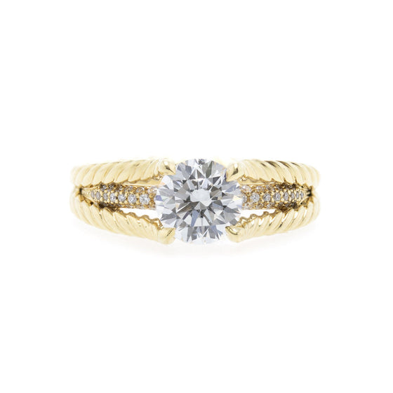David Yurman Renaissance Style Diamond Engagement Ring Rings David Yurman