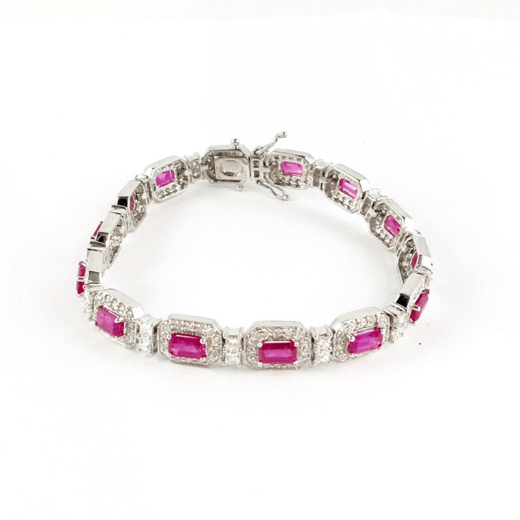 Diamond and Ruby Bracelet Bracelets Miscellaneous