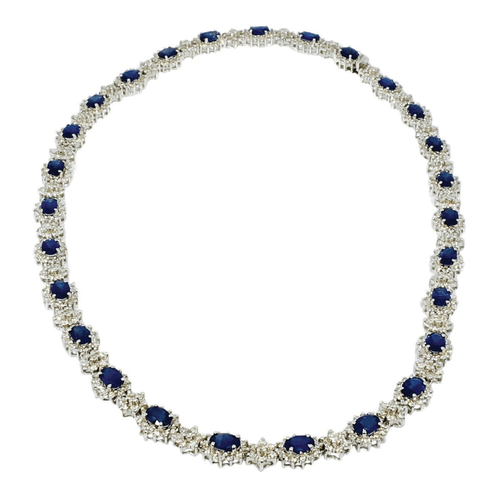 Diamond and Sapphire Necklace Necklaces Miscellaneous